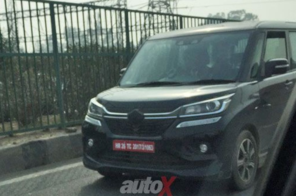 Suzuki Solio Bandit spied testing front
