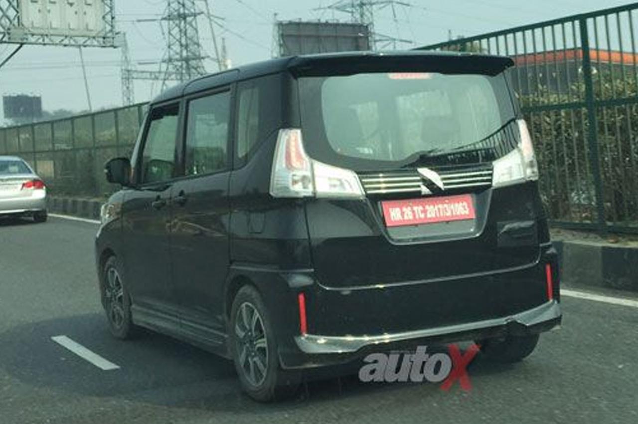 Suzuki Solio Bandit spied testing rear