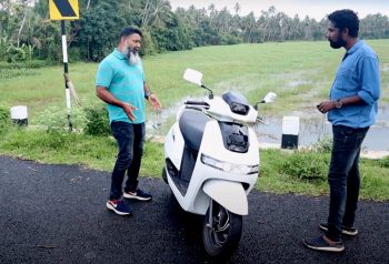 TVS Electric Scooter iQube spotted in Kerala