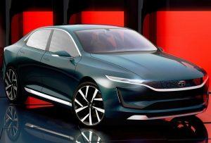 Tata-EVision Concept front three quarter view