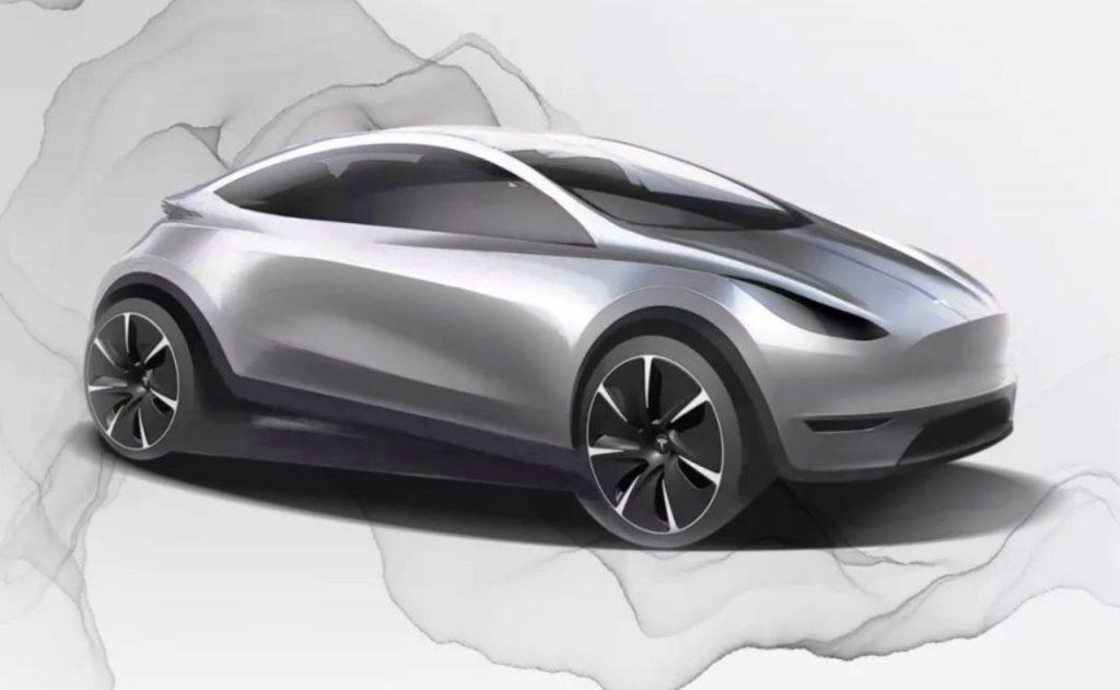 Tesla Model 2 EV Sketch