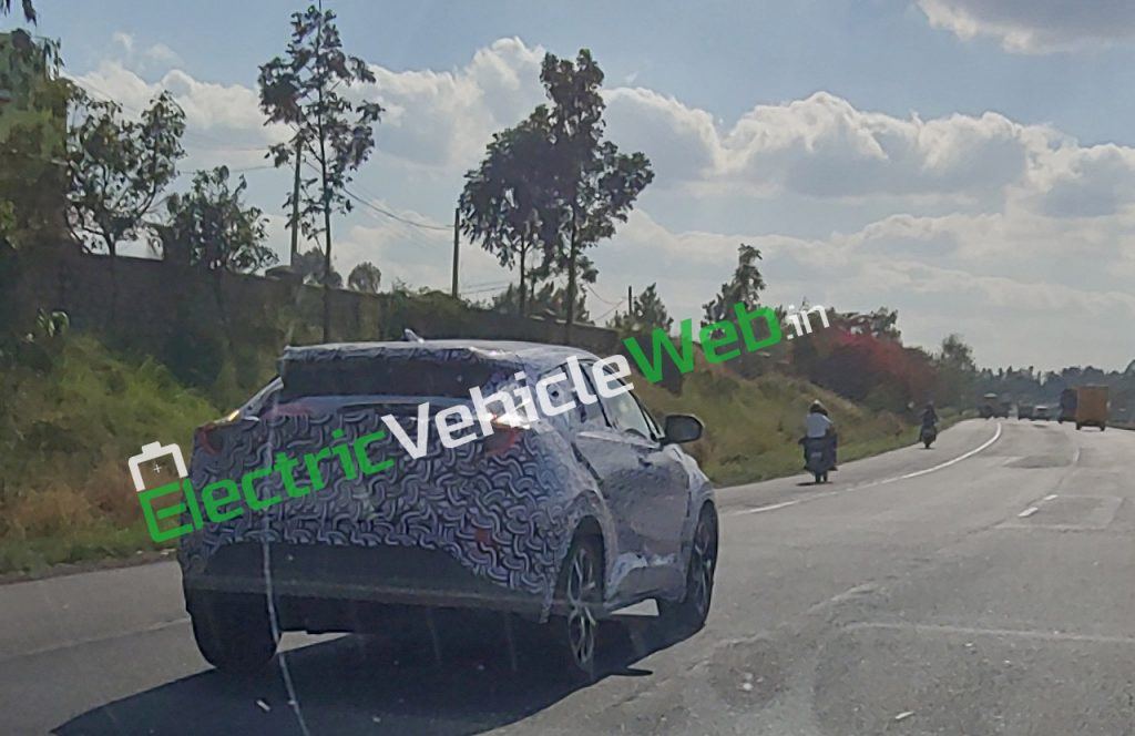 Toyota C-HR Spied in India rear