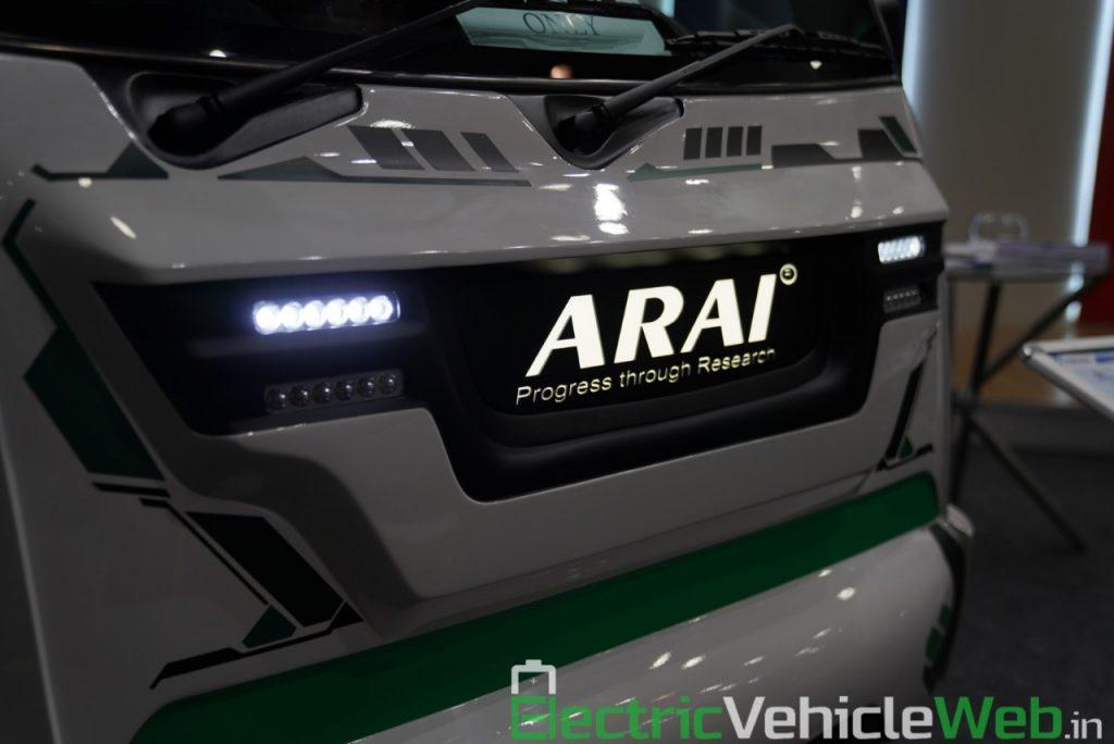ARAI Prototype Electric Vehicle front grille - Auto Expo 2020