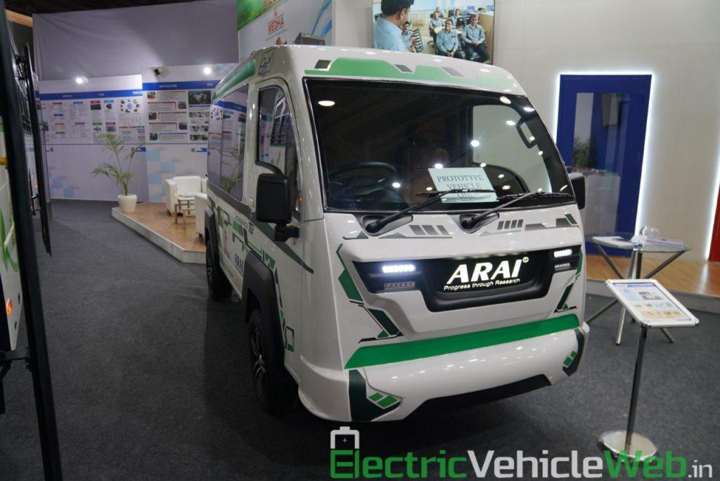 ARAI Prototype Electric Vehicle front view - Auto Expo 2020