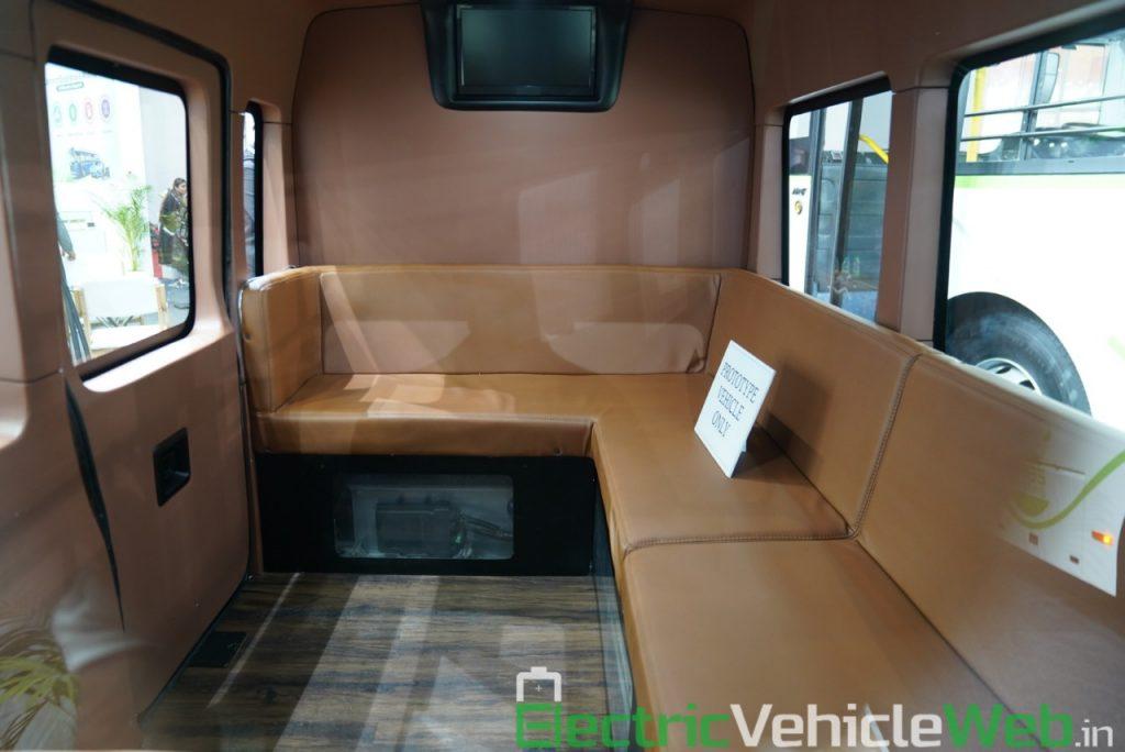 ARAI Prototype Electric Vehicle passenger seats - Auto Expo 2020