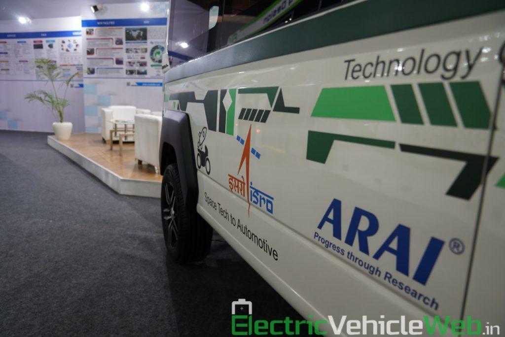 ARAI Prototype Electric Vehicle side graphics - Auto Expo 2020