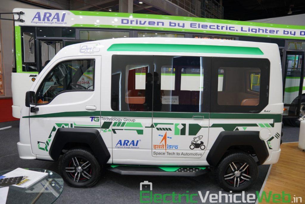 ARAI Prototype Electric Vehicle side view - Auto Expo 2020