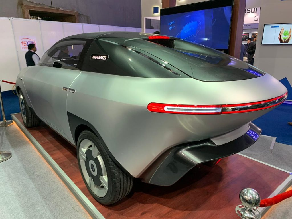 Asahi AKXY Concept rear three quarter view 1 - Auto Expo Component 2020