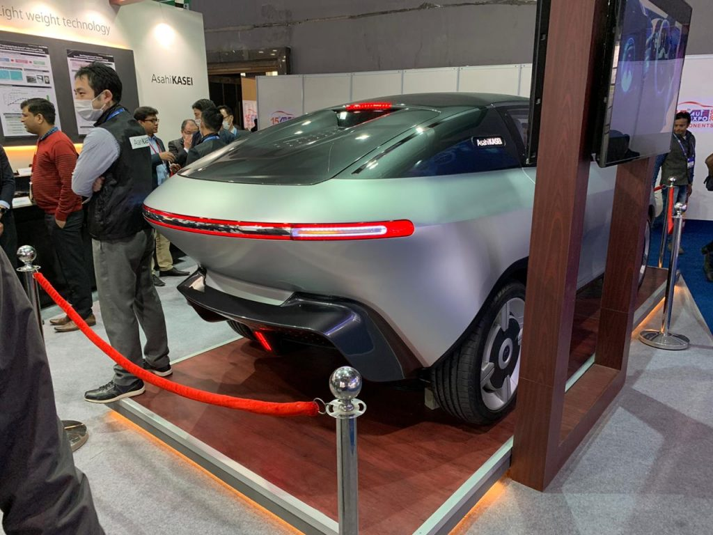 Asahi AKXY Concept rear three quarter view 2 - Auto Expo Component 2020Asahi AKXY Concept rear three quarter view 2 - Auto Expo Component 2020