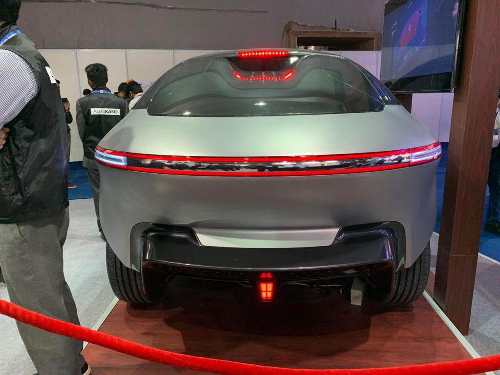 Asahi AKXY Concept rear view - Auto Expo Component 2020