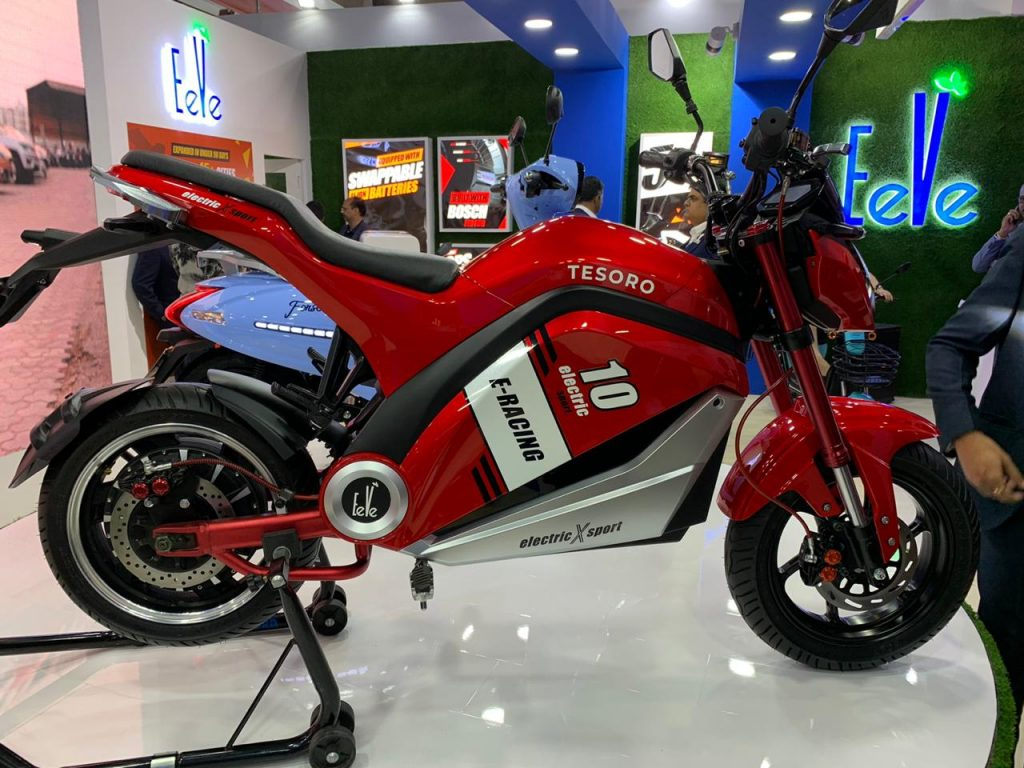 EeVe Tesoro side view - Auto expo 2020