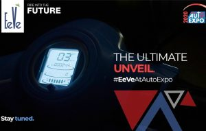 EeVe e-scooter digital instrument cluster teaser