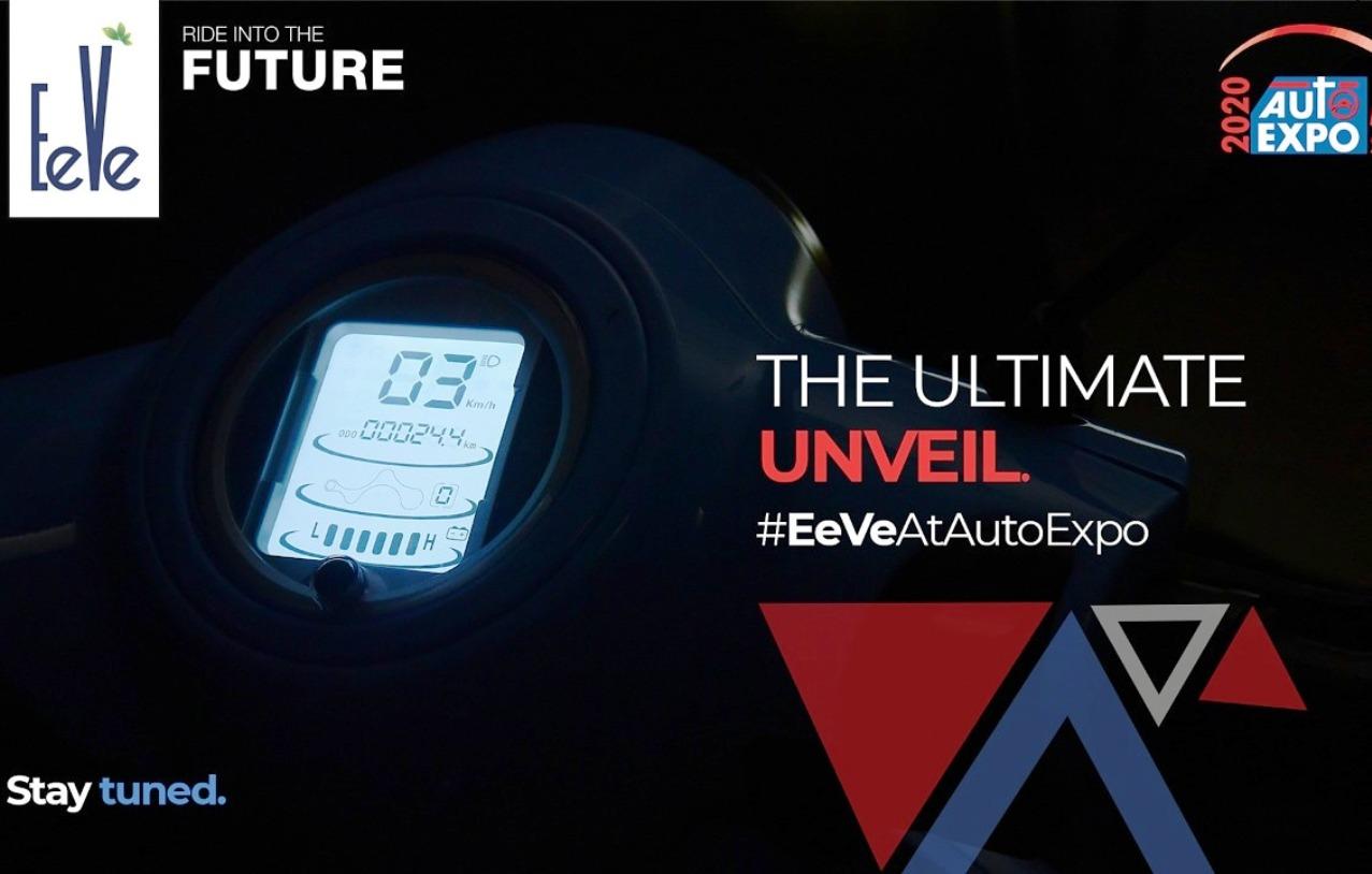 EeVe e-scooter digital instrument cluster teaser