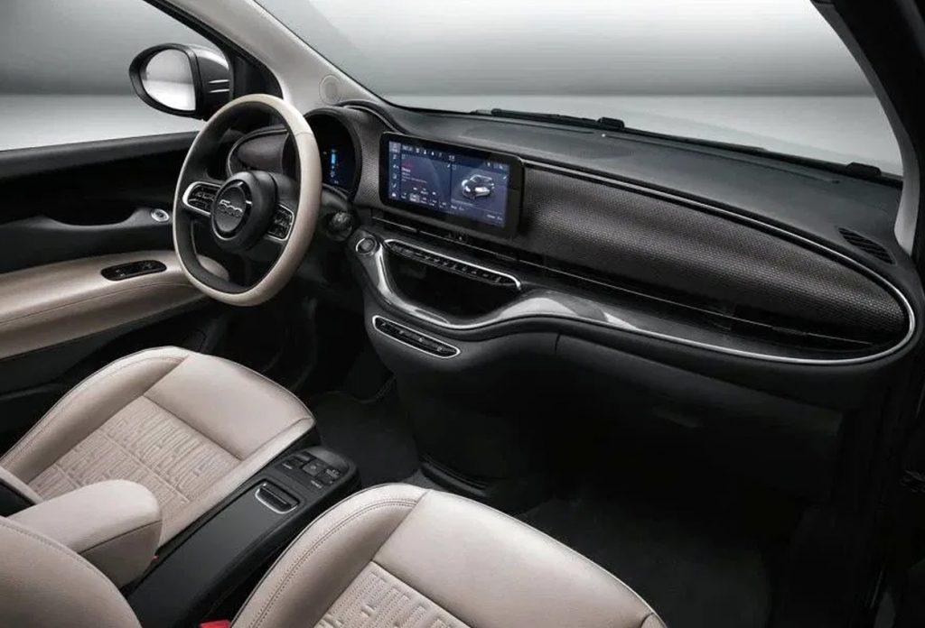 Fiat 500e dashboard