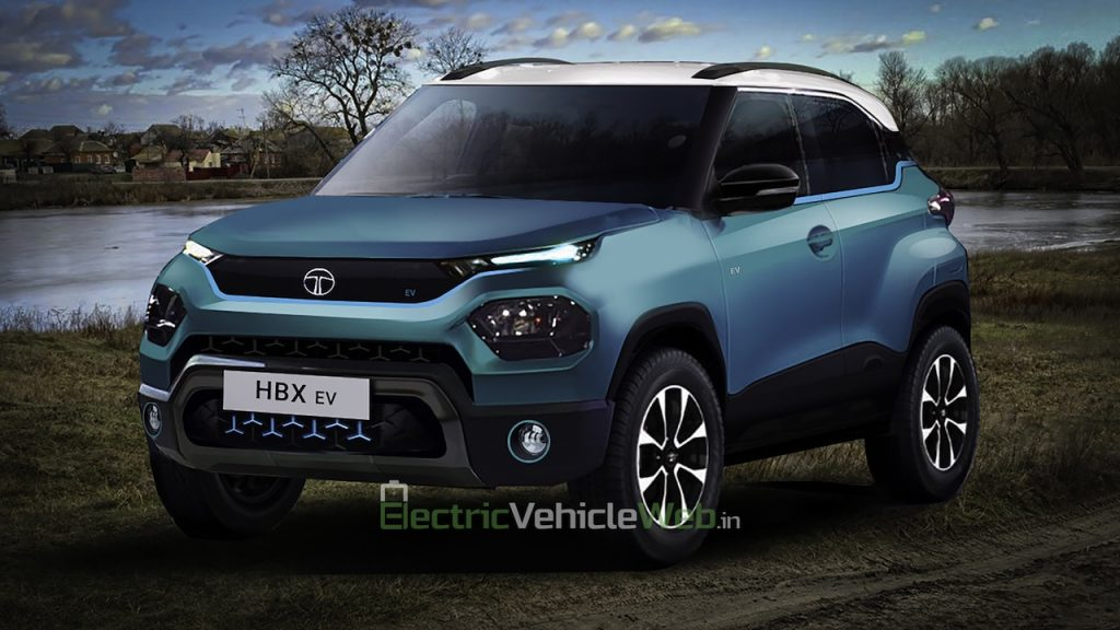 Final Tata HBX Electric render front