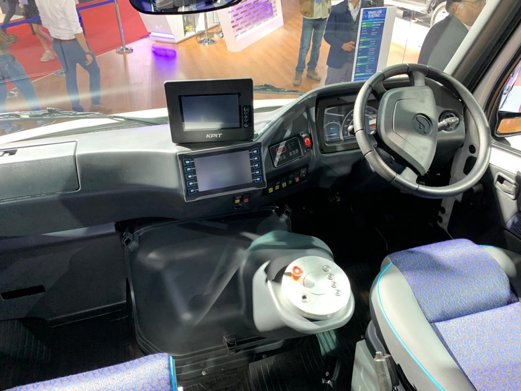 Force Traveller Electric dashboard - Auto Expo 2020