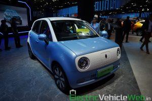 GWM Ora R1 Electric front three quarter view - Auto Expo 2020