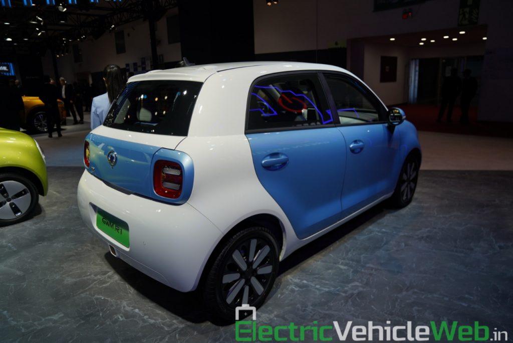 GWM Ora R1 Electric rear three quarter view 1 - Auto Expo 2020