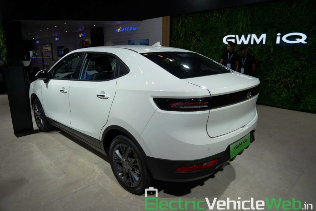 GWM Ora iQ Electric rear three quarter view 2 - Auto Expo 2020