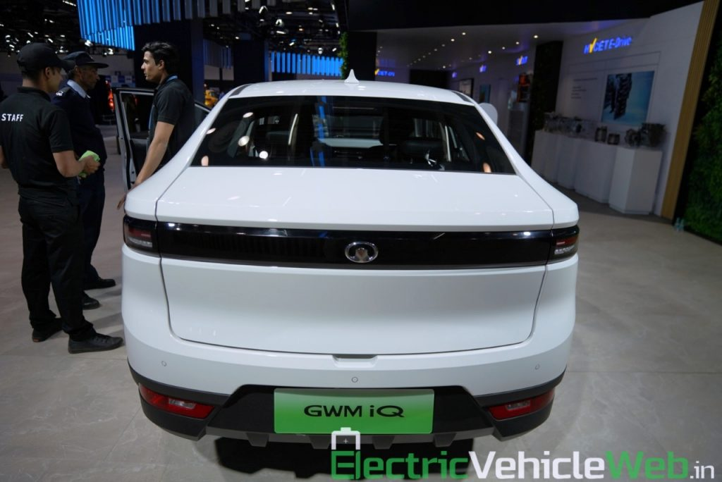 GWM Ora iQ Electric rear view - Auto Expo 2020