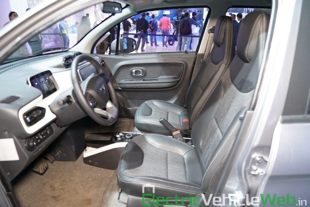 Haima Bird Electric EV1 front seats - Auto Expo 2020