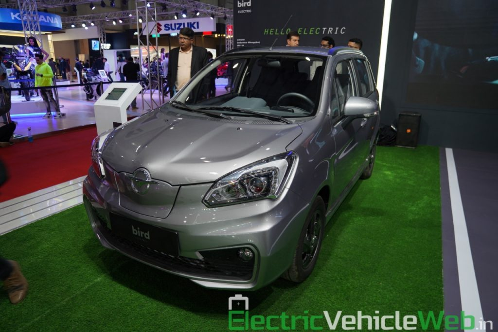 Haima Bird Electric EV1 front three quarter view 1 - Auto Expo 2020