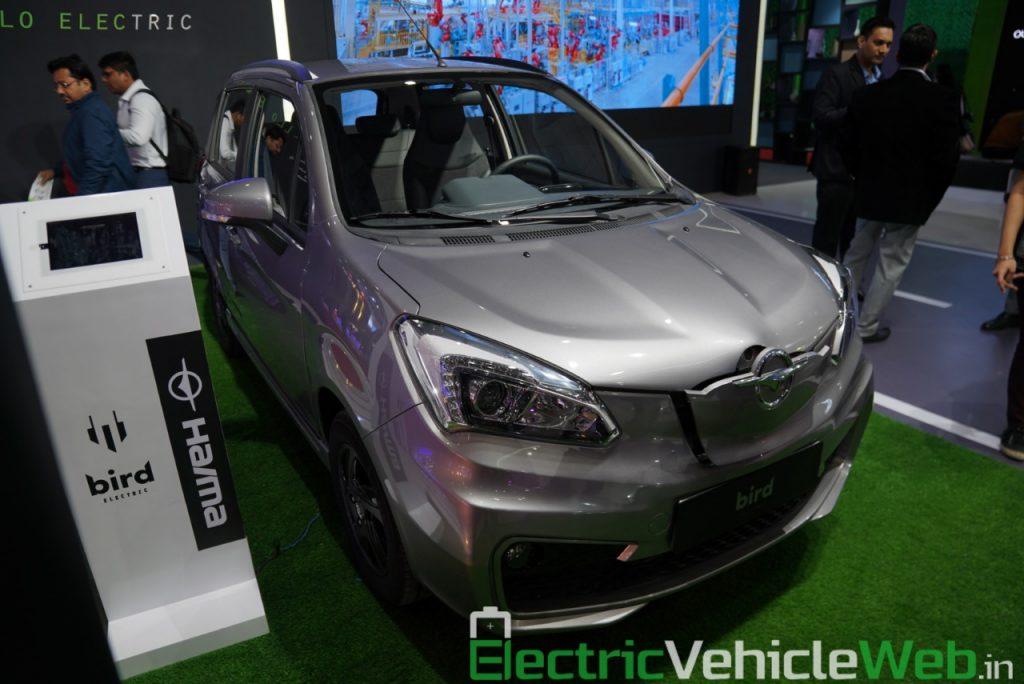 Haima Bird Electric EV1 front three quarter view 2 - Auto Expo 2020
