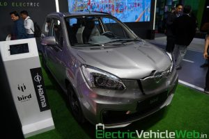 Haima Bird Electric EV1 front three quarter view 2 - Auto Expo 2020
