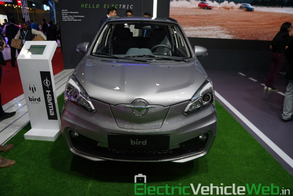 Haima Bird Electric EV1 front view - Auto Expo 2020