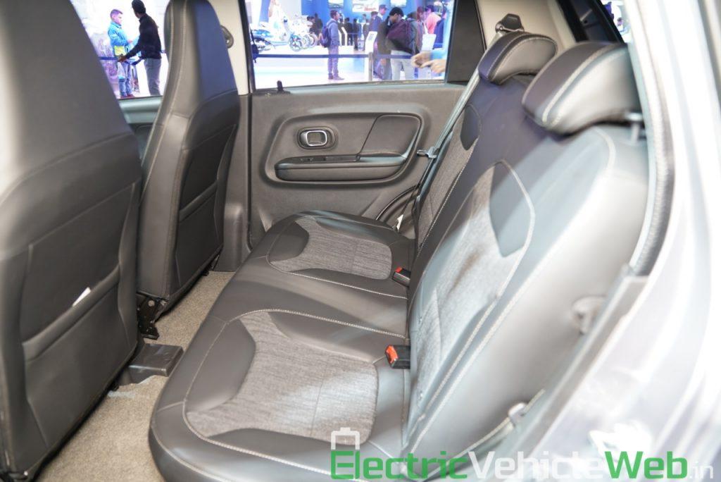 Haima Bird Electric EV1 rear seats - Auto Expo 2020