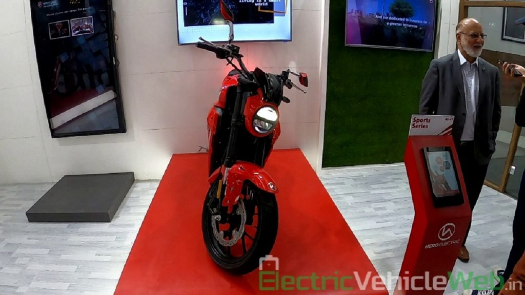 Hero Electric AE-47 front view - Auto Expo 2020