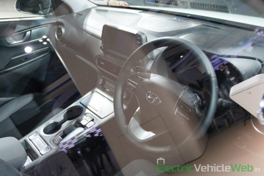 Hyundai Kona Electric dashboard - Auto Expo 2020