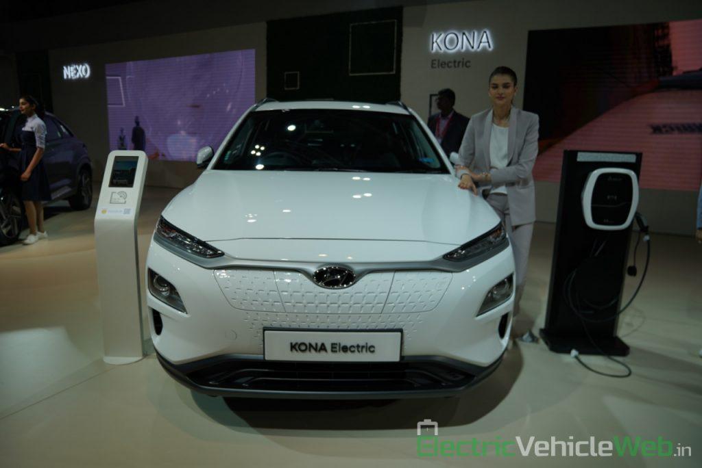 Hyundai Kona Electric front view - Auto Expo 2020