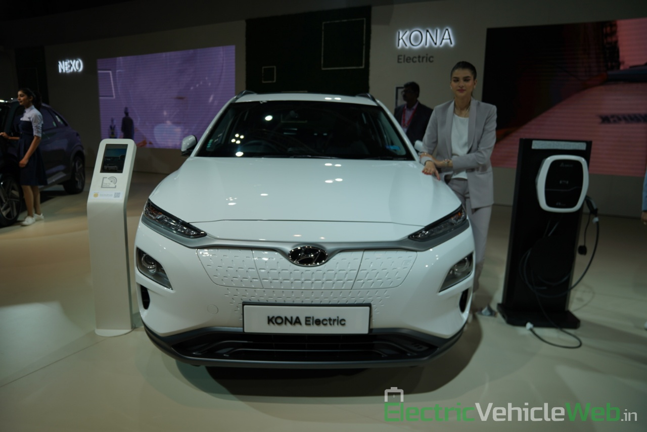 Hyundai Kona Electric front view - Auto Expo 2020