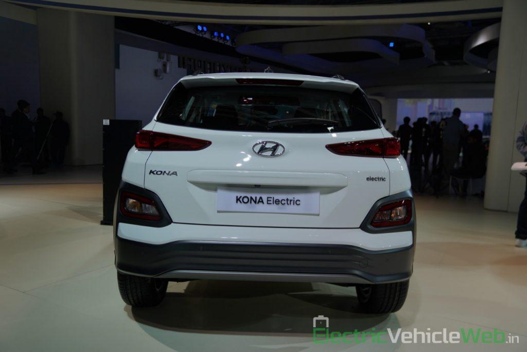 Hyundai Kona Electric rear view - Auto Expo 2020