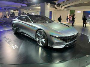 Hyundai Le Fil Rouge Concept front three quarter view - Auto Expo 2020