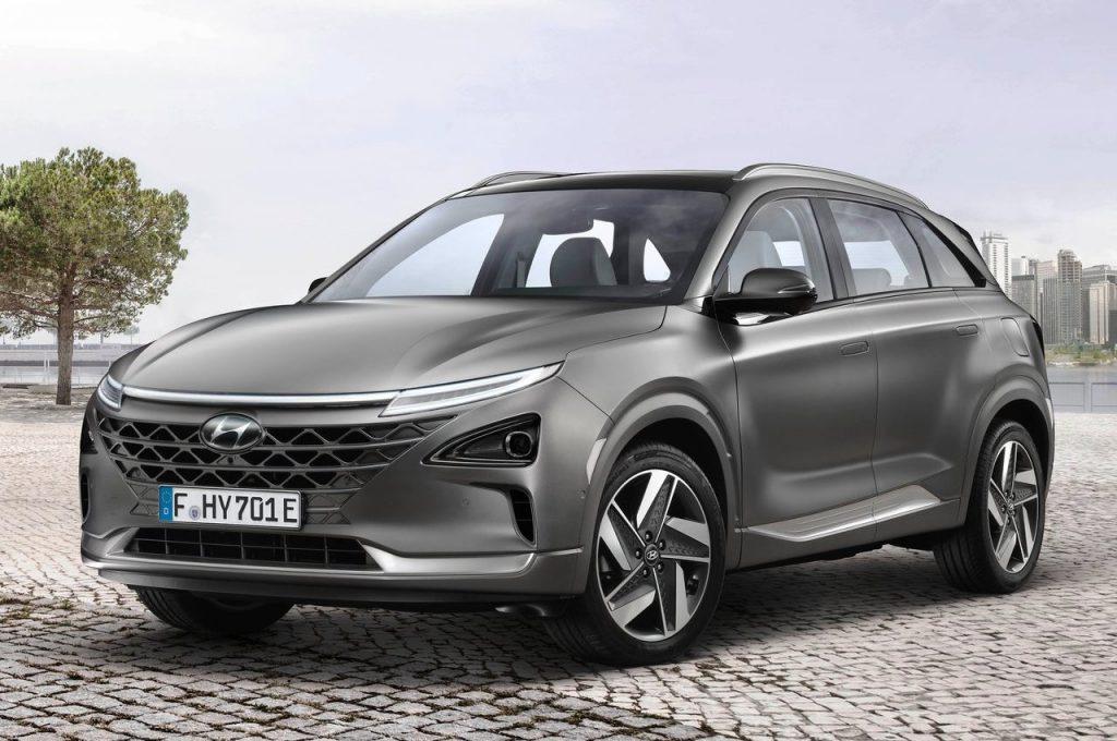Hyundai Nexo Fuel Cell EV front three quarter view