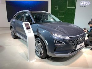 Hyundai Nexo front three quarter view - Auto Expo 2020