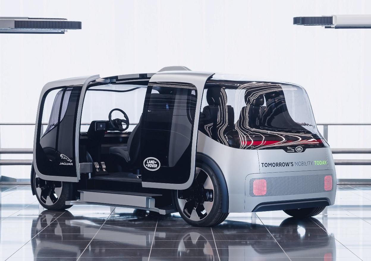 Jaguar Land Rover Project Vector rear three quarter view