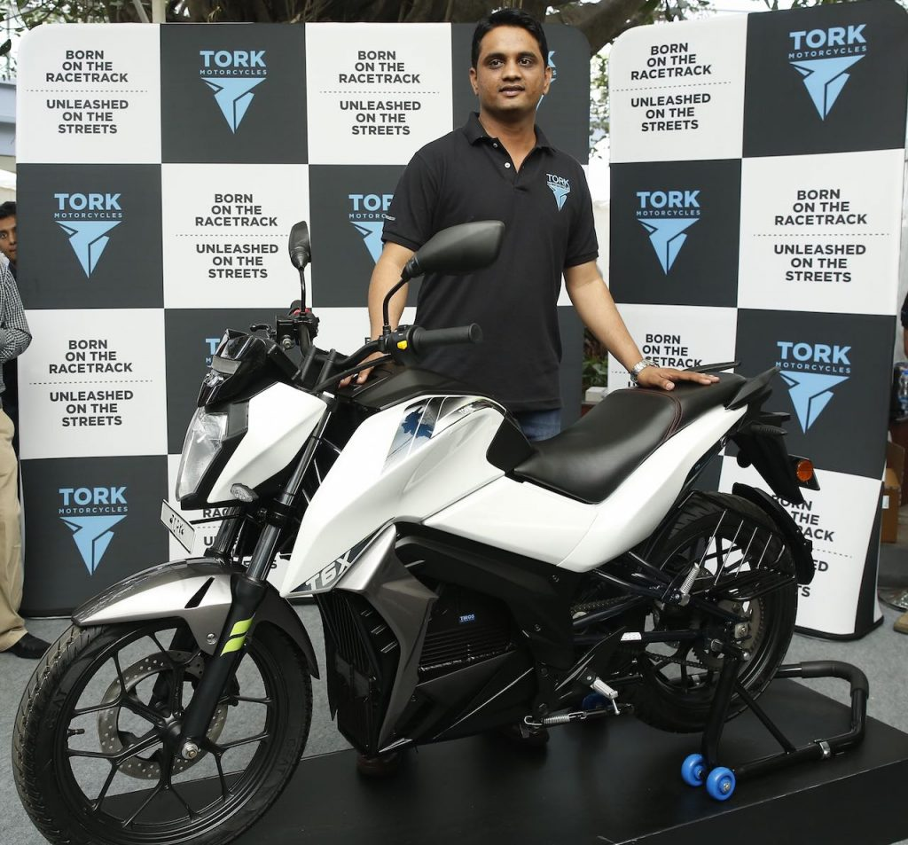 Kapil Shelke with Tork Motors Tork T6X