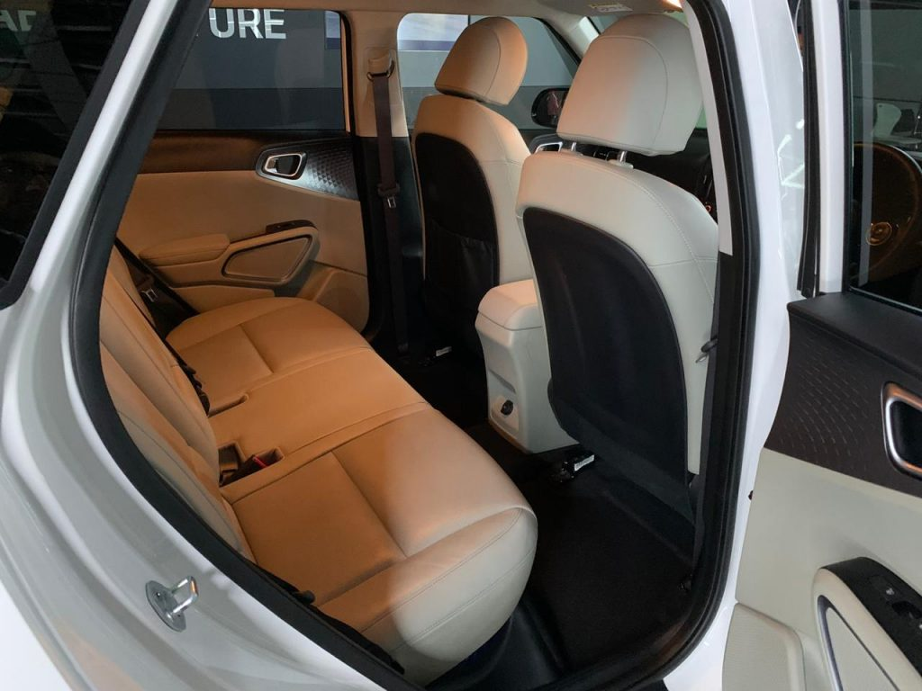 Kia Soul EV Auto Expo 2020 rear seats