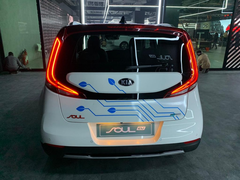 Kia Soul EV Auto Expo 2020 rear view