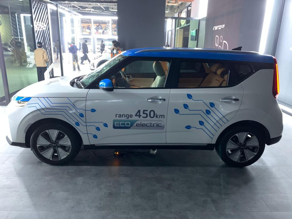 Kia Soul EV Auto Expo 2020 side view