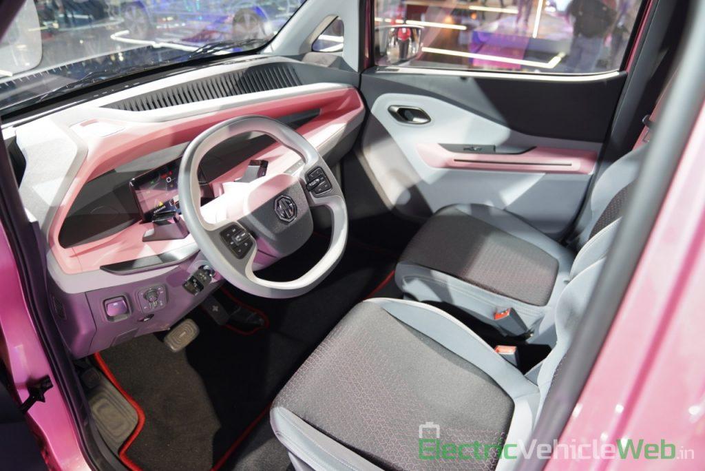 MG E200 EV dashboard - Auto Expo 2020