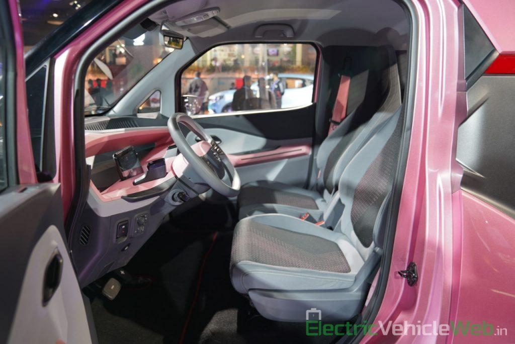 MG E200 EV front seats - Auto Expo 2020