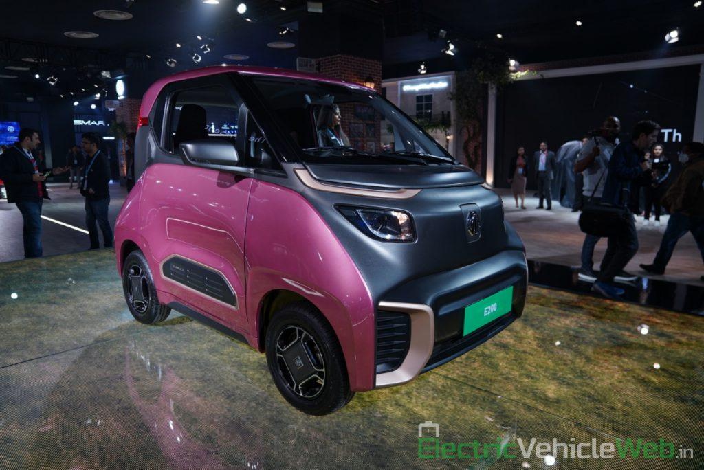 MG E200 EV front three quarter view 2 - Auto Expo 2020