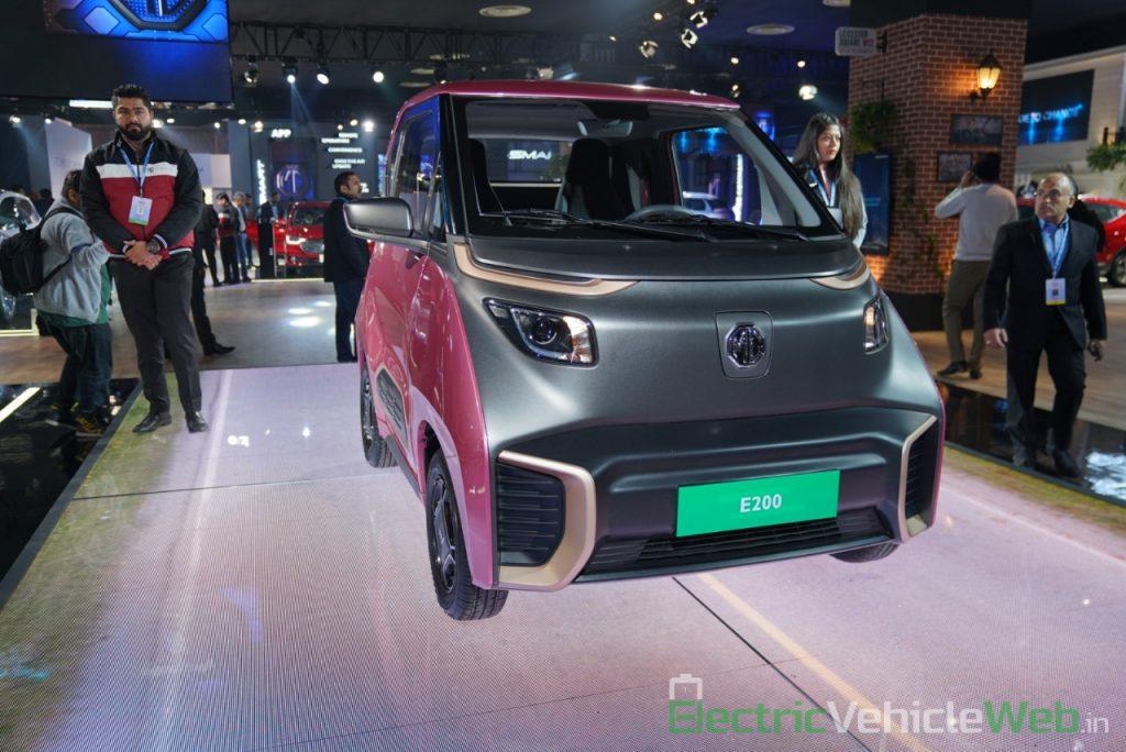 MG E200 EV front three quarter view 3 - Auto Expo 2020