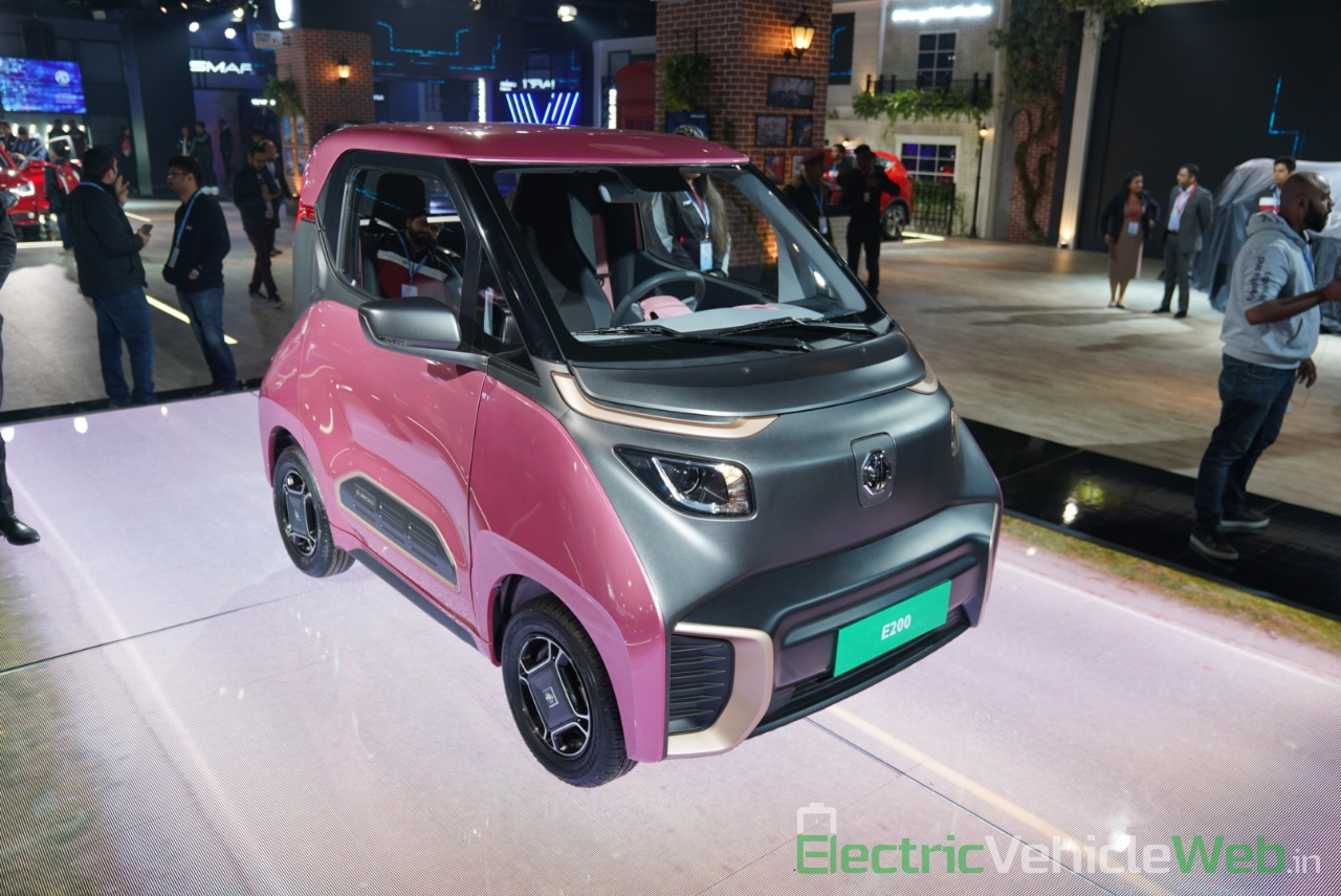MG E200 EV front three quarter view 4 - Auto Expo 2020