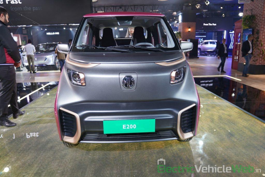 MG E200 EV front view - Auto Expo 2020