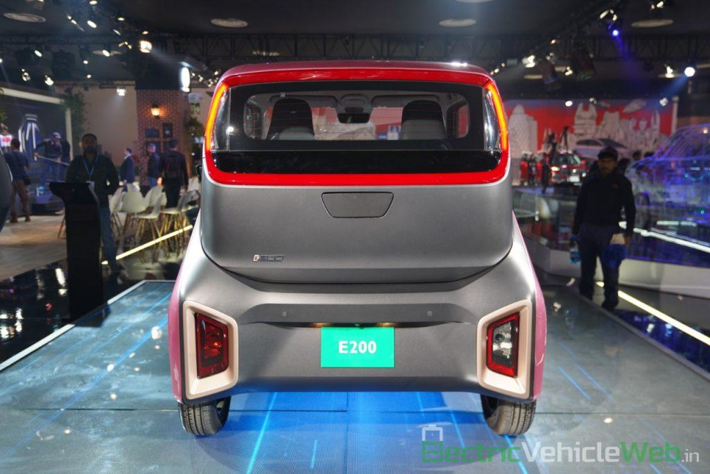 MG E200 EV rear view - Auto Expo 2020